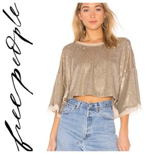 NWT Free people Champagne Dreams Top